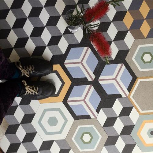 terrazzo hexagon